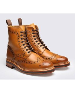 Fred Calf Brogue Derby Boot