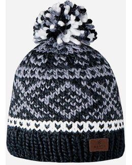 Log Cabin Fair Isle Beanie Hat