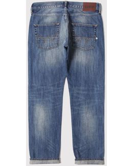 Ed-55 White Listed 12.5oz Jeans Relax (tapered)