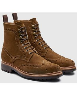Fred Brogue Boot (suede)