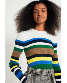 Urban Outfitters Multi-striped Jumper
