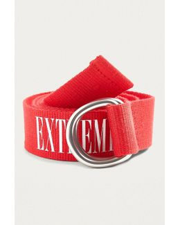 Red Extreme Slogan Belt