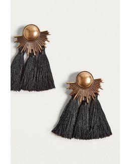 Half-moon Tassel Drop Earrings