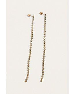 Long Bobble Chain Drop Earrings