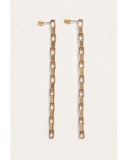 Gold Chain Link Drop Earrings