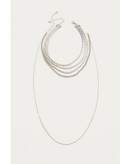 Layered Mixed Chain Necklace 2-pack
