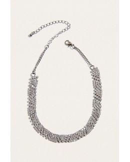 Geometric Rhinestone Choker Necklace
