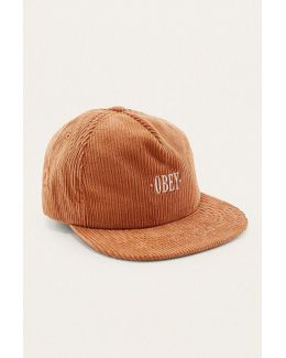 Jumbo Cord Rust Snapback Cap