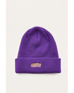 Ripped Purple Beanie
