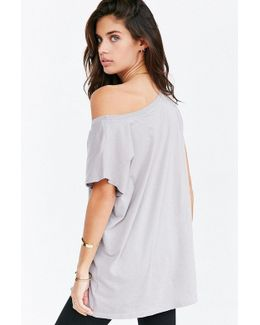 Off-the-shoulder Tee Dress