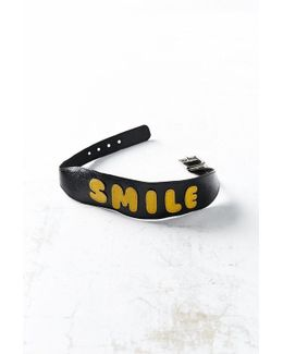 Smile Leather Choker Necklace