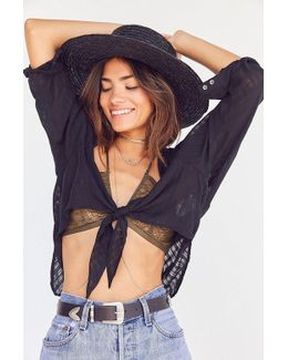 Courtney Tie-front Open Blouse