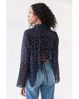 Starry Night Tie-back Blouse