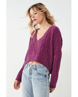 Slouchy Chenille High/low Sweater