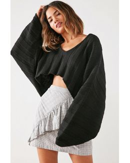 Slouchy Ribbed High/low Sweater
