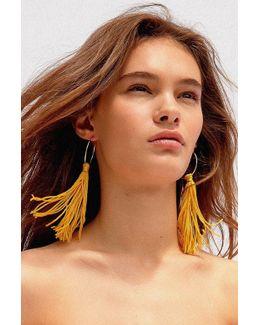 Cordelia Tassel Hoop Earring