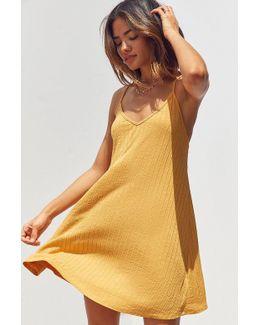 Wide-ribbed Knit Slip Dress