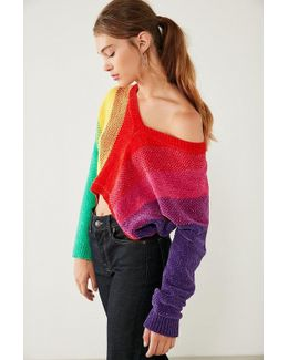Rainbow Chenille Sweater