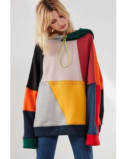Color Block Drawstring Hoodie