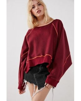 Willow Inside-out Cropped Sweatshirt