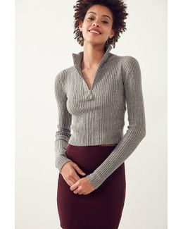 Christy Turtleneck Half-zip Sweater
