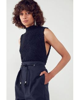 Fuzzy Drop Armhole Sleeveless Sweater