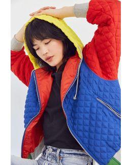Pip Color Block Quilted Hoodie Jacket