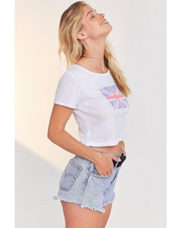 British Flag Cropped Tee