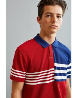 Semi Fancy Striped Pique Polo Shirt