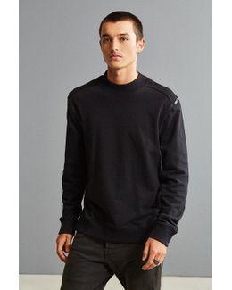Shoulder Zip Crew Neck Sweatshirt