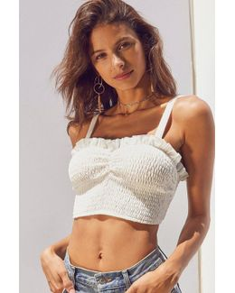Smocked Sweetheart Cropped Cami