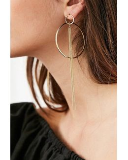 Circle Chain Statement Earring