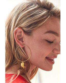 Charm Hoop Earring