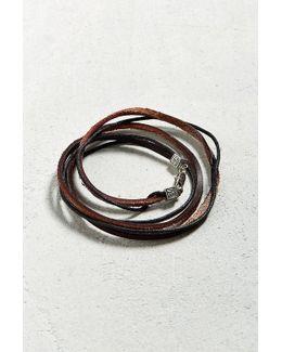 Uo Leather Wrap Bracelet