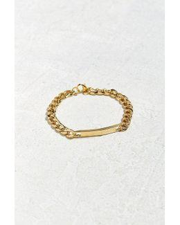 Uo Gold Id Chain Bracelet