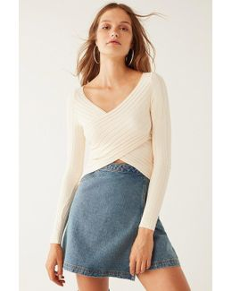 Delaney Surplice Sweater