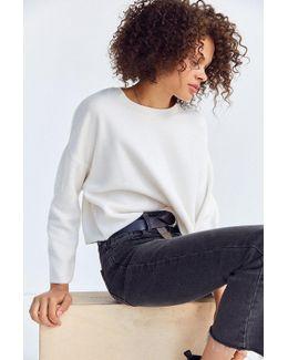 Fuzzy Crew-neck Sweatshirt