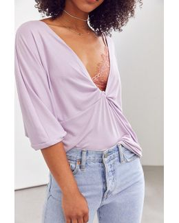 Twist In Time Plunging Tee