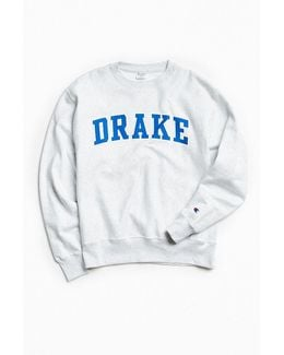 Drake University Reverse Weave Crew Neck Sweatshirt
