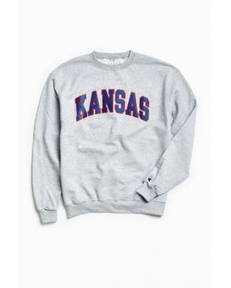 University Of Kansas Eco Fleece Crew Neck Sweatshirt