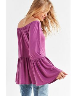 Blake Off-the-shoulder Tunic Top