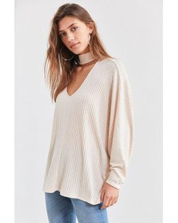 Sky Open Mock-neck Sweater