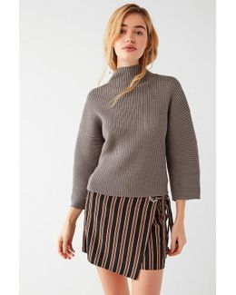 Dolman Sleeve Mock-neck Sweater