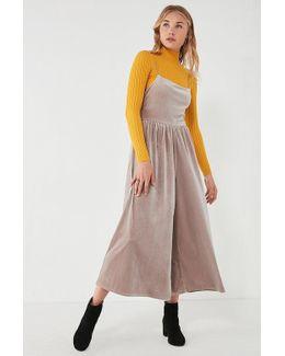 Uo Emmabella Velvet Straight-neck Jumpsuit