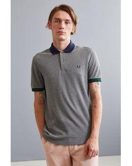 Colorblocked Pique Polo Shirt