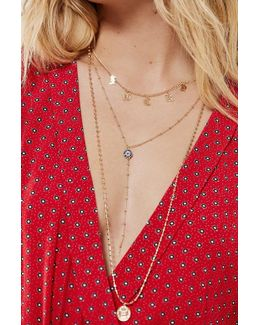 Avi Charm Layering Necklace Set