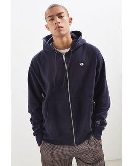 Reverse Weave Full Zip Hoodie Sweatshirt