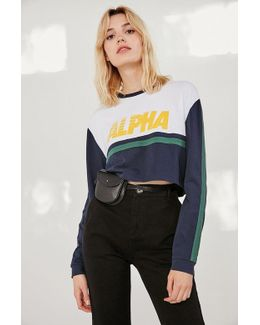 Alpha Striped Cropped Top