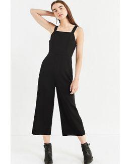 Uo Square-neck Structured Jumpsuit