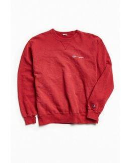 Vintage Red Script Logo Crew Neck Sweatshirt